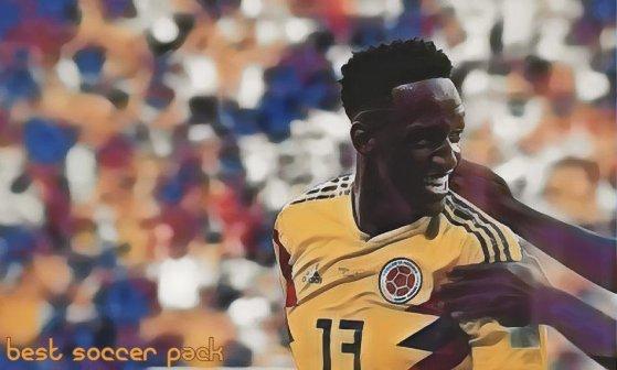 Yerry Mina coloca a Colômbia na primeira colocação do grupo