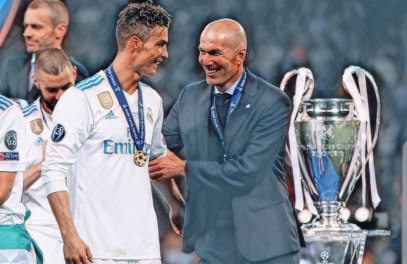 Zidane e Cristiano Ronaldo juntos