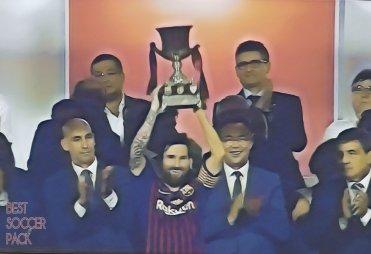 Messi levanta sua primeira taça como capitão Supercopa da Espanha