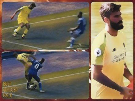Falha ridícula do Alisson Liverpool 2x1 Leicester