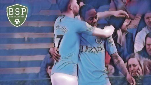 De Bruyne e Sterling Manchester City