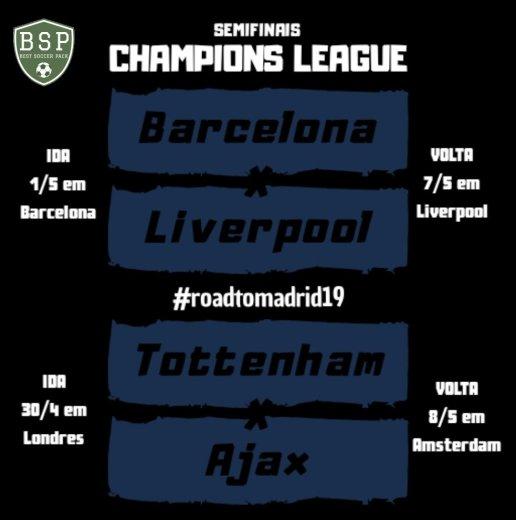 Semifinais da UEFA Champions League confrontos
