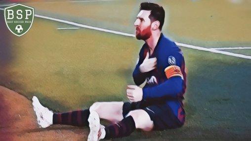 Messi comemora sentado Barcelona 3x0 Liverpool